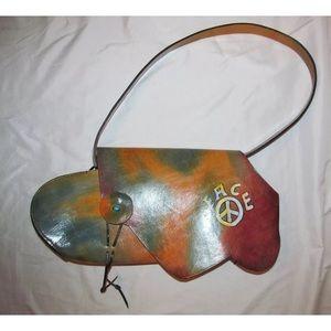 WABAGS tiedye Handpainted designer hippie huge bag